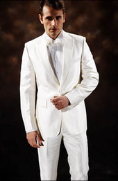 Wholesale 2014 Hot Sale Custom Made White Tuxedos Best Man Gun Collar Groomsmen Men Wedding Suits Bridegroom EM00393