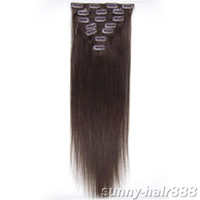 "20"" 7pcs set Clip- in hair Human Hair Extensions #02 mix..."