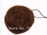 Wholesale Pony Tail Hair Extension Bun Hair piece Scrunchie human hair light brown color