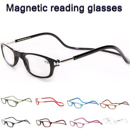 Wholesale oculos fashion folding plastic magnet reading glasses man woman