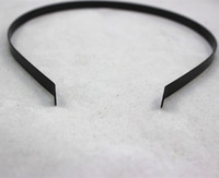 Black american metal processing - Accessories painted black metal hair bands making materials processing mm steel black headband headdress tiara bridal hair accessories