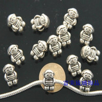 Metals Chirstmas  100pcs Tibetan silver lovely baby Dangle Pendants Charm Bead Fit Pandora European Charm Jewelry Bracelets & Necklaces wholesale beads