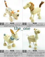 Wholesale New Wooden kinds of animals tool baby children toy Children Educational Tool Colorful EMS FREE TO AUS