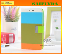 For Samsung Leather For Christmas Multi-Color Stripe Wallet Credit Card Stand Leather Case Cover Holster for Samsung Galaxy Note 3 Note2