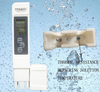 Wholesale 50PCS TDS Tester EC meter conductivity meter water measurement tool Function in ppm High Quality by DHL