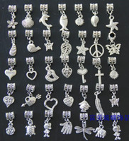 Wholesale best selling Tibetan silver heart dangle charms pendant beads mixed styles