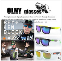 Wholesale 21 models SPY KEN BLOCK HELM Cycling Sports Sunglasses Outdoor Sun glasses Brand Black Skin Snake SPY OPTIC HELM Ken Block AAA good quality