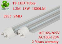 Wholesale 120x FEDEXFREE W W W T8 LED Tube SMD Light feet m M M AC V led lighting year warranty