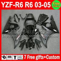 7 gifts For YAMAHA ALL Black YZF- R6 03- 05 YZFR6 YZF R6 R 6 C...