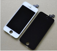 Cheap Wholesale - For iPhone 5S LCD Display & Touch Screen Digitizer for iPhone 5S Replacement Black White High Quality Free Shipping