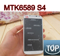 Wholesale quad core S4 i9500 phone MTK6589 air touch G G full inch IPS HD screen android gps g phone SG POST