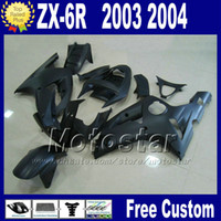 Wholesale 7 gifts Fairing kit For ZX6R kawasaki Ninja ZX R ZX636 ZX all matte black ABS fairings set ZX R body kits PL40