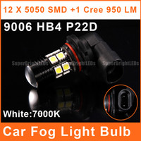 Wholesale HB4 P22D LED Car W High Power Foglights SMD CREE R5 Projector Lens V White Lamp Auto Headlight Bulbs FL0099