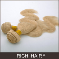 European Hair Ejulin Hair Extension 4pcs Lot Body Wavy Color 613 # Brazilian Hair Can Be Dyed