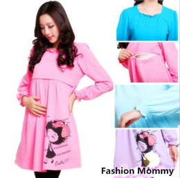 Wholesale 2014 New Bright Color Cute Maternity Dress Nursing Baby Dress Fashion Mommy Ware