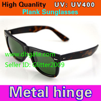 Wholesale High Quality Plank Sunglasses Tortoise Frame Green Lens Sunglasses Metal hinge Sunglasses Men s Sunglasses Women s glasses unisex Sunglasses