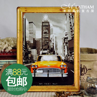 Wholesale Metal painting fashion popular wall coverings decoration light oil taxi