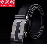 Wholesale Genuine Leather Wide Belts For Men Designer Simplicity Style Formal Office Mens Brand New Belt tight Automatic buckle belt