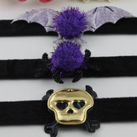 Wholesale 20pcs Halloween Headwear Party Bracelet Christmas Dance Activity Wristband Skull Spider Bat Jewelry