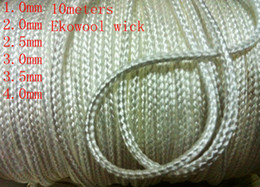 Wholesale 33ft m High Quality Braided Ekowool Silica Wick Wire Rope String for E Cigarette Atomizer sizes