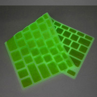 Wholesale Noctilucous Silicone Keyboard Cover with Latters for MacBook Air quot Pro quot quot Retina Colorful Waterproof Keyboard Skin Protector DHL