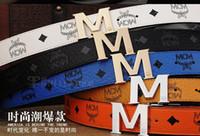 Wholesale Super deal NEW MCM Belt Cool Belts for Men and Women dress belts M Shape Metal strap Ceinture Buckle
