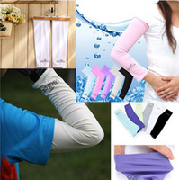 Wholesale 100pcs pairs Cool Cooling Arm Sleeves Sleeve Cover Sun Protection Protective sports Stretch