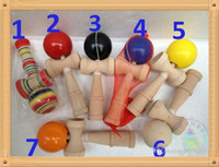 Wholesale Hot big size cm cm Kendama Ball Japanese Traditional Wood Game Toy Education Gift Novoty toy colors