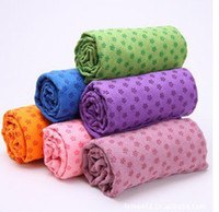 Wholesale Good quality Health Care Skidless Yoga Towel Yoga Mat Non slip Yoga Mats for Fitness Yoga Blanket