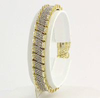 Wholesale 4 ctw Diamond Bracelet quot k Yellow amp White Gold Two Tone Natural Estate