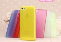 For Apple iPhone Metal Plastic 0.3mm ultra-thin transparent wholesale apple iphone5c cheap version of the Apple phone shell protective sleeve 5S