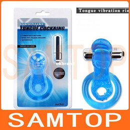 Wholesale Tongue vibraing cockring penis ring vibration functions waterproof