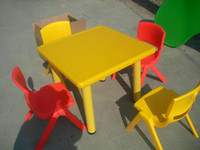 Wholesale Preschool table square plastic chair plastic tables and chairs square plastic table