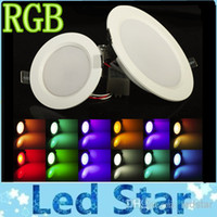 Wholesale Super W W RGB LED Ceiling Panel Light AC85 V Color Downlight Bulb Lamp with Remote Control