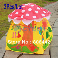 Tents Animes & Cartoons PVC 3Pcs Lot Lovely Children Kids Tent Eco-Friendly Colorful Play House Tents Outdoor 11923