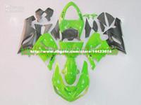 Comression Mold kawasaki zx6r fairings - 7gifts Hi garde ABS gifts green BLK fairings for KAWASAKI ZX6R ZX R R ZX R fairing E60