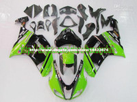 Wholesale 7gifts Hi grade ABS green black body for KAWASAKI ZX R ZX6R R ZX R ABS fairing