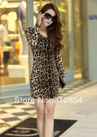 Work Sheath Mini Women Sexy Hot Leopard Dresses velvet 2014 Spring and Winter Slim Mini Clubwear Ladies Brown Fashion Casual Pencil Dress Clothes