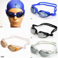 al por mayor gafas de vogue-Deportes acuáticos profesionales de buceo Equipo de buceo Gafas Vogue agua a prueba de agua Natación UV Racing Gafas de colores eligen ZDM * 1