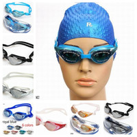 Wholesale New Goggles Adult Unisex Non Fogging Anti UV Swimming Goggles Swim Glasses Adjustable color Water Sports ZDM