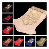 Wholesale Hot Silk floss Decorative Table Runners Chinese Long Table Cloths Simple Table Runner High Quality Bed Runners