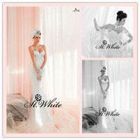 Trumpet/Mermaid Reference Images Spaghetti WOW! Hot Sexy Mermaid Spaghetti strap Sweetheart Sweep Train Satin Lace Wrap 2014 Wedding Gowns Woman Prom Dresses Backless Bridal Gowns
