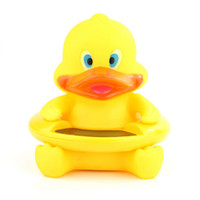 Wholesale Cute Little Duck Baby Bath Water Thermometer LCD Display Cartoon Toys for Baby s Bath Time Lovely Yellow Duck