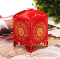 Favor Boxes Red Paper 100Pcs Lot Hot Selling Red Bridal Sedan Chair Candy Favor Sweest Box Candy Boxes 2014 New Wedding Favors Holders Unique Desgin