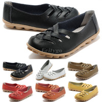 Wholesale New Womens Ladies Comfort Cut Out Leather Shoes Loafers Oxford Colors Size Ex38