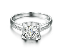 Wholesale Timeless and Classic Top quality ct bright synthetic Diamond ring K gold plated Unique Jewelry for women