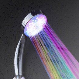 Wholesale Hot Selling New Temperature Senor Control RGB LED Light Water Shower Head No Battery Needed