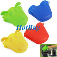 Wholesale Silicone Heat Proof Resistant Insulation Pan Holder Kitchen Glove Oven Grab Mitt