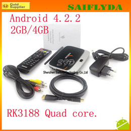 Wholesale MK888 K R42 Mini TV Box RK3188 Quad Core GB RAM GB ROM Android With IR Remote Controller CS918 External Wifi