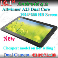 Wholesale Hot selling quot Inch Allwinner A23 Tablet PC Bluetooth G RAM G ROM Dual Core ghz android dual camera Capacitive tablet pc